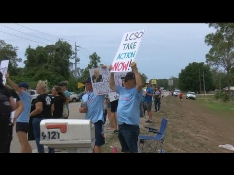 Protesters rally against Lee County farms accused of animal abuse