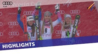 Lindsey Vonn back to winning ways in Val d'Isère 1st SuperG race | Highlights