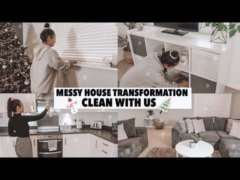 MESSY HOUSE TRANSFORMATION CLEAN WITH ME (SPEED CLEAN) CHRISTMAS EDITION - AYSE AND ZELIHA