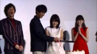 2015.3.14映画『ストロボエッジ』舞台挨拶。TOHOシネマズ六本木。福士蒼...