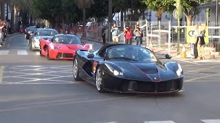 Ferrari 70 aniversario Marbella ( LaFerrari Aperta, LaFerrari +40 Ferrari doing accelerations..) 2/2