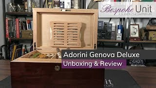 Adorini Genova Deluxe Humidor Unboxing & Review: Full Kit-out Luxury