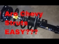 2004 Chevy Malibu front struts replace How to ??