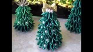 как сделать елку из ленточек