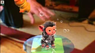 PS3 Move Eye Pet Demo Scrubbin' Monkey
