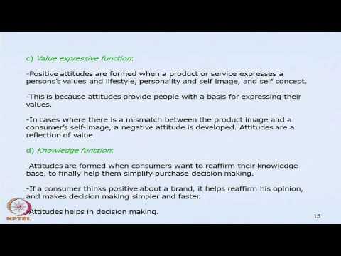 Mod-10 Lec-27 Consumer Attitudes