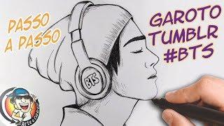COMO DESENHAR GAROTO TUMBLR #BTS - passo a passo