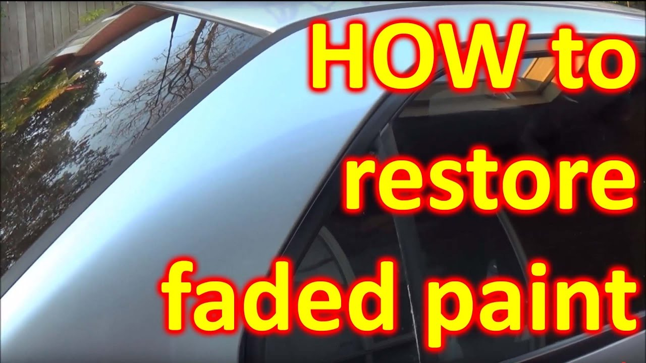 How To Fix Sun Damaged Faded Paint Peeling Clear Coat