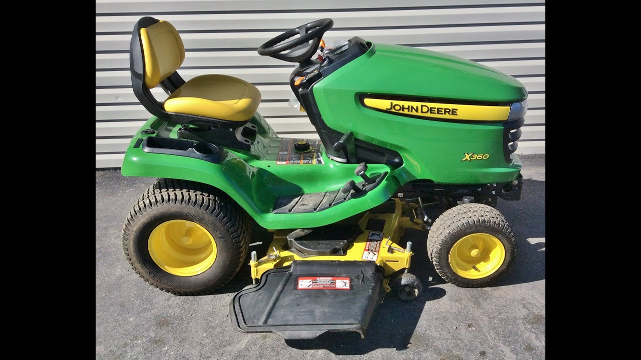 Garden Tractor Without Mower Deck : John deere select series riding lawn mower for sale