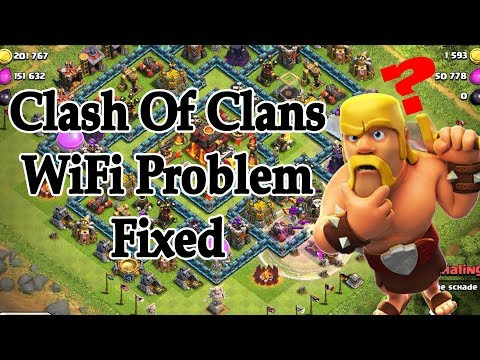 CLASH OF CLANS WIFI PROBLEM FIXED!!!