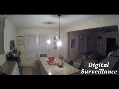 Real Home Surveillance Video of Home Entry and Burglary
