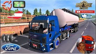 Euro Truck Simulator 2 (1.35)   Ford Cargo 1848 BR Version 1.35.x Wien to Graz + DLC's & Mods https://ets2.lt/en/ford-cargo-2/  Support me please thanks Support me economically at the mail vanelli.isabella@gmail.com  Roadhunter Trailers Heavy Cargo  http: