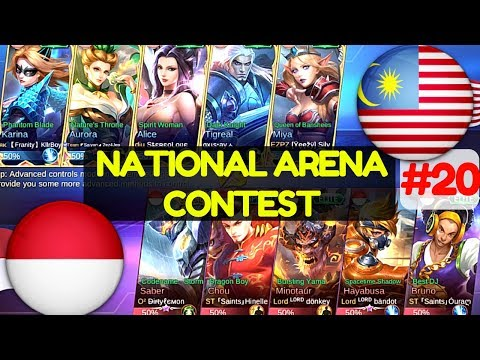 Malaysia VS Indonesia [1st Game 180617] | National Arena Contest Mobile Legends