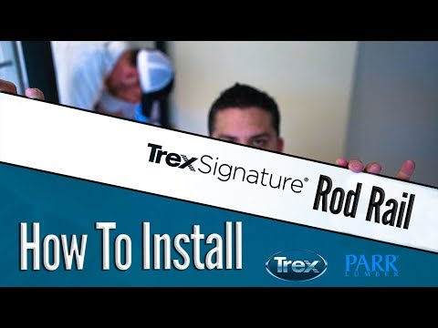 TREX Signature Rod Rail System Install | How To