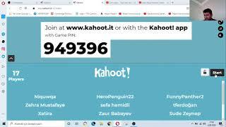 5- 6.7.8-9.10.  Sınıflara  KAHOOT yarışması