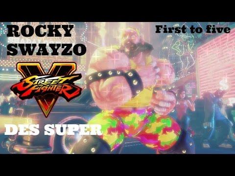 Rocky Swayzo vs Des Super - Street Fighter V (FT5)