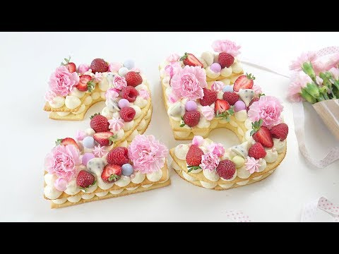 Торт Цифра 😍 Песочные коржи.  Tart Cake