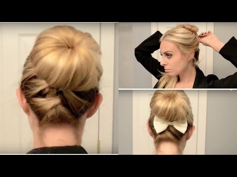 Cute &amp Quick Updo for Work/School!  YouTube - Cute Ponytail Hairstyles