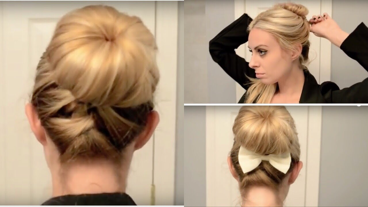 Cute Quick Updo For Work School Youtube