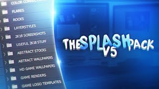 NEW BEST FREE GFX PACK 😍 - THESPLASHPACK V5 ( NBA2K18 , FORTNITE & MORE!)