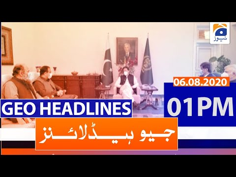 Geo Headlines 01 PM   6th August 2020