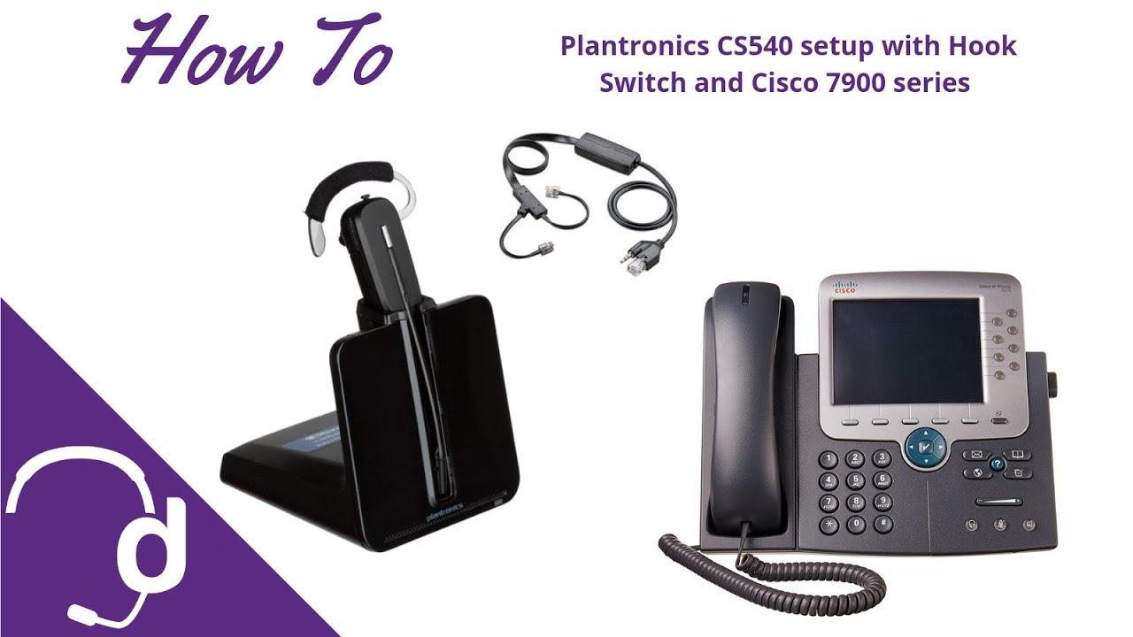 Plantronics Cs540 Setup With Apc 43 Without Sidecar Youtube