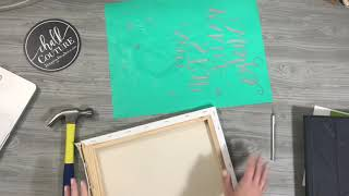 Howto DIY a Reverse Canvas with Chalk Couture