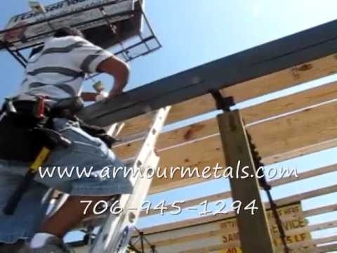 Installing Pole Barn With Steel Truss And Metal Roofing