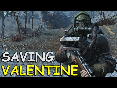SAVING VALENTINE! - Fallout 4 Gameplay + Easter Egg