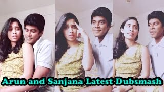 Arun and Sanjana Real Pair Latest Dubsmash | Tamil Popular Dubsmash |