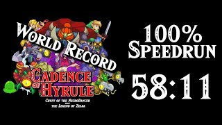 Cadence of Hyrule 100% World Record Speedrun in 58:11