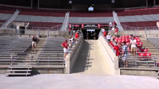 Ohio State Marching Band 8 24 2014 Ramp Entry onto Field Shot From the Bottom of the Ramp!