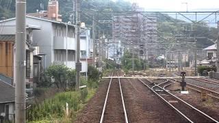 ちょっとだけ前面展望 15km hで走る121系電車