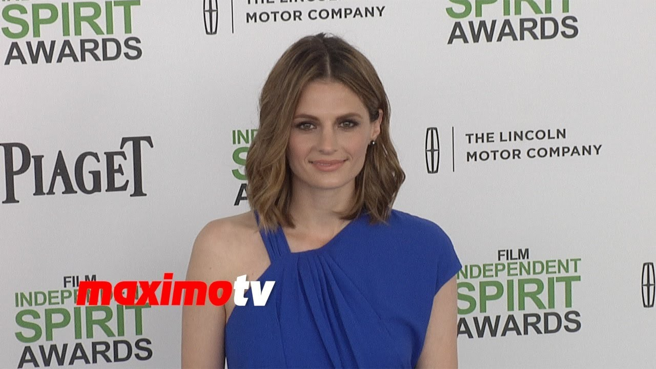 stana katic 2014 spirit awards arrivals castle star booed on the carpet youtube