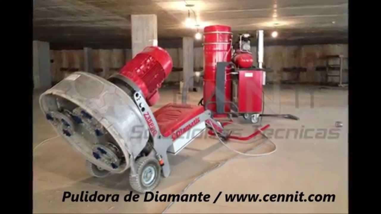 Pulidora de suelos mod cgd 735pro quitando pavimento de for Pulidora de hormigon