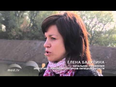 Липецк. Мост. Земснаряды начали чистить реку Воронеж в Липецке