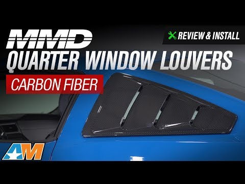2005-2014 Mustang MMD Quarter Window Louvers - Carbon Fiber Review & Install