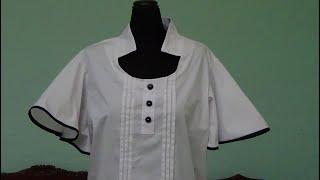 Como trazar blusa talla extra con alforzas