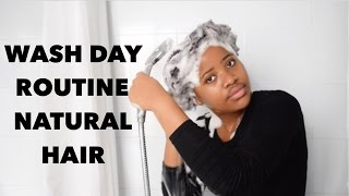 WASH DAY ROUTINE ON 4C NATURAL HAIR