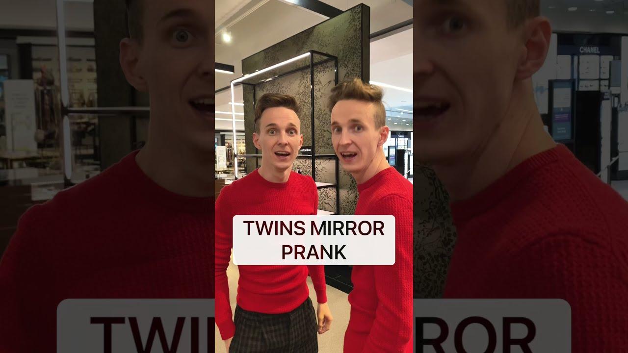 Epic mirror prank / Best TwinsFromRussia tiktoks ( People freaked out )