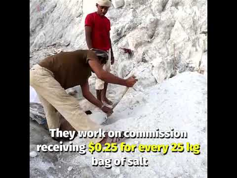 VIDEO: Salt mining has been an important piece of the struggling Yemeni economy.