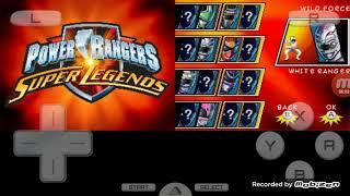 jogando POWER RANGERS SUPER LEGENDS de nintendo ds parte 1