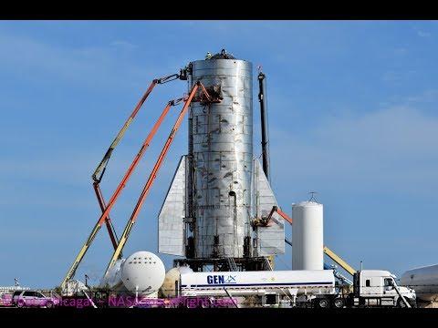 SpaceX Starship Mk1 - Second Fin Installation - November 11, 2019