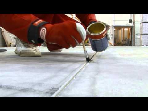 Вопрос: Как заделать трещины в бетонных полах?