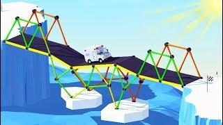 ПО ЭТИМ МОСТАМ ЛУЧШЕ НЕ ЕЗДИТЬ! Мульт игра для детей про СТРОИТЕЛЬСТВО МОСТОВ Build a Bridge