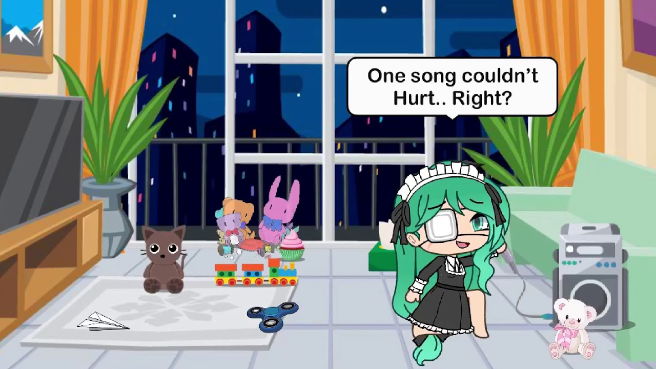 the girl who can't sing (For Gacha Mike) #Gachablank