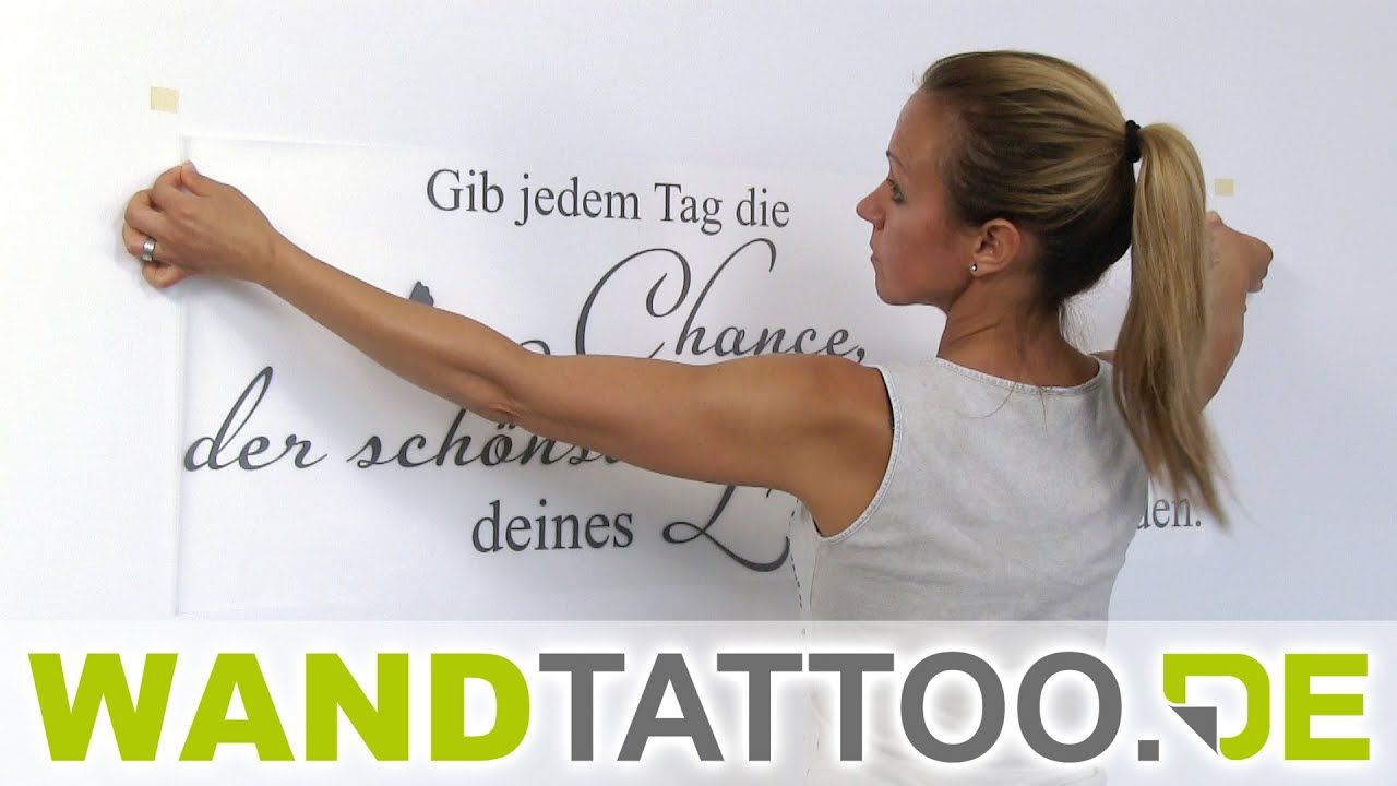 wandtattoo anleitung wandtattoos richtig anbringen youtube. Black Bedroom Furniture Sets. Home Design Ideas
