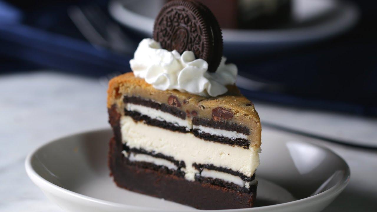 """しっとり濃厚♪ 20層のクッキー""""BOX""""ブラウニーチーズケーキ"""