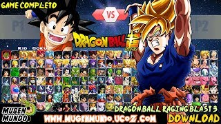 SAIU!! DRAGON BALL RAGING BLAST 3 MUGEN EDITION HD (172 PERSONAGENS) DOWNLOAD #MugenAndroid