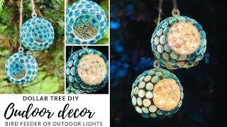 DOLLAR TREE OUTDOOR DECOR DIY|OUTDOOR LIGHTING|MEASURE & MIX